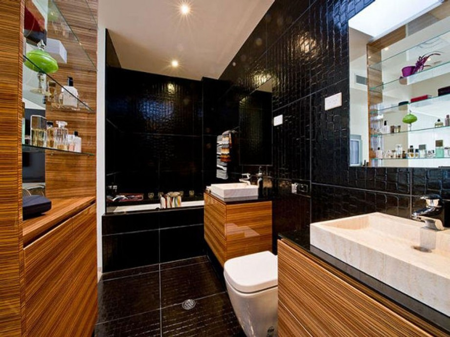 dark bathroom apartment layouts