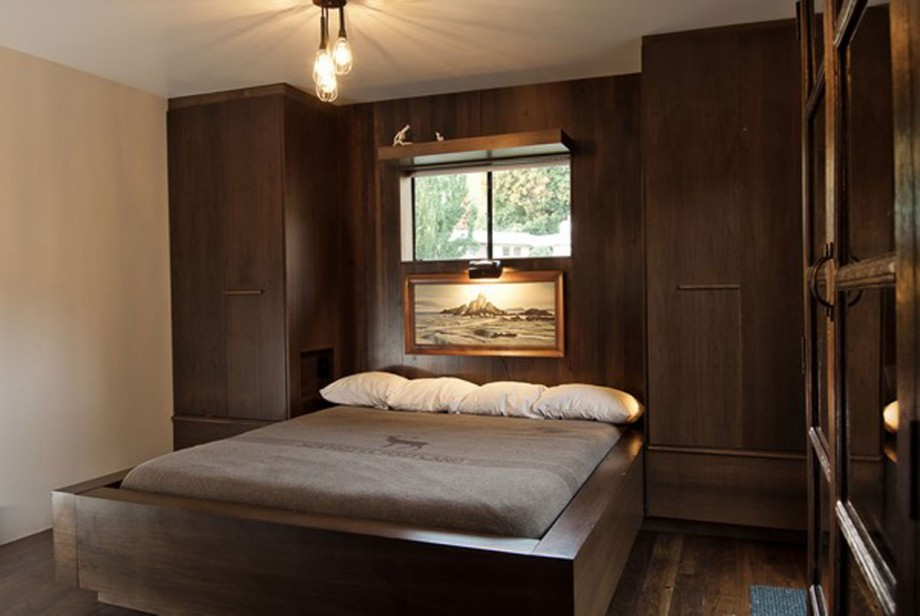 delicious dark chocolate bedroom interior
