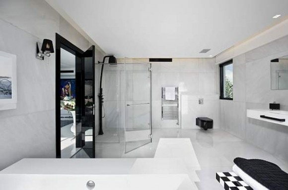 great white bathroom space