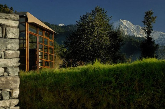 green and clean himalayas mountain house exterior