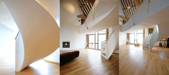 minimal view spiral staircase planner