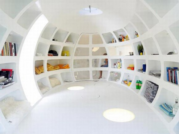 oval egg house interior