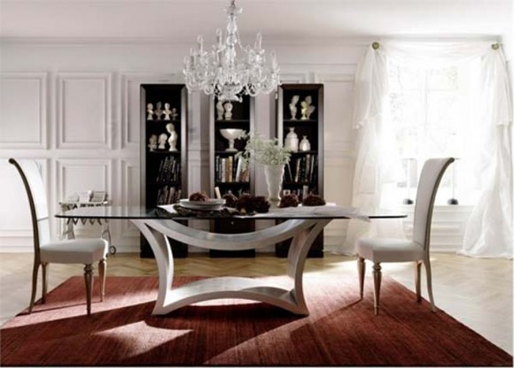 provocative modern dining room table