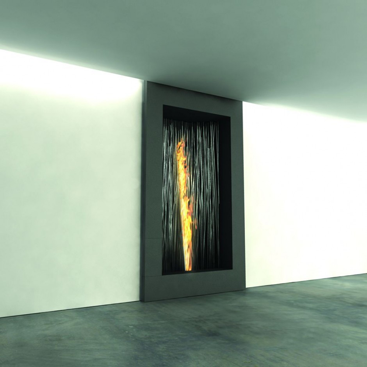 wall in fireplace style designs