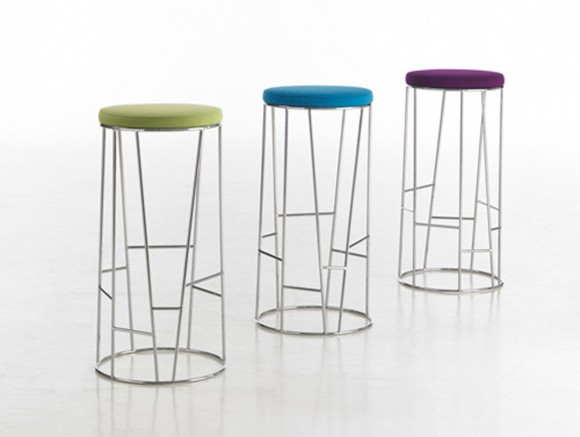 colorful seat side bar stool