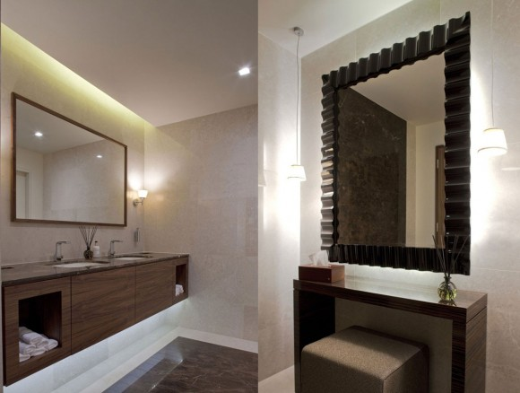 contemporary style lounge bathroom