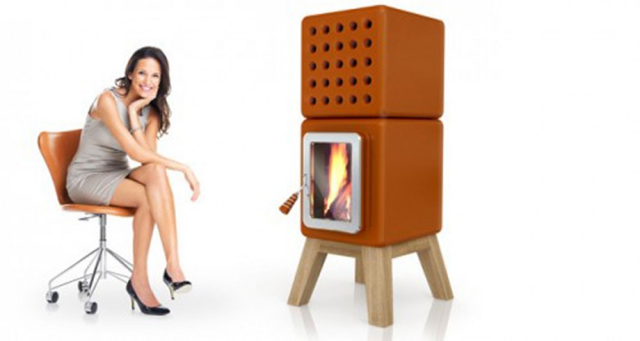 stylish orange firestove color tone