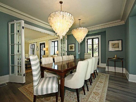 aristocratic white dining room