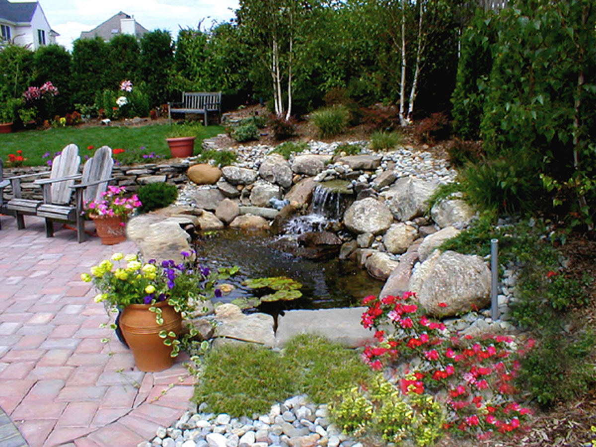 Best waterfall design ideas for Backyard pond ideas with waterfall