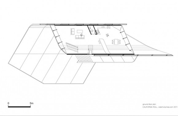 blue print of california roll house project