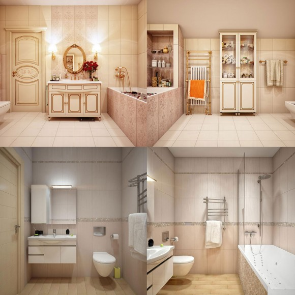clean and clear house bathroom space