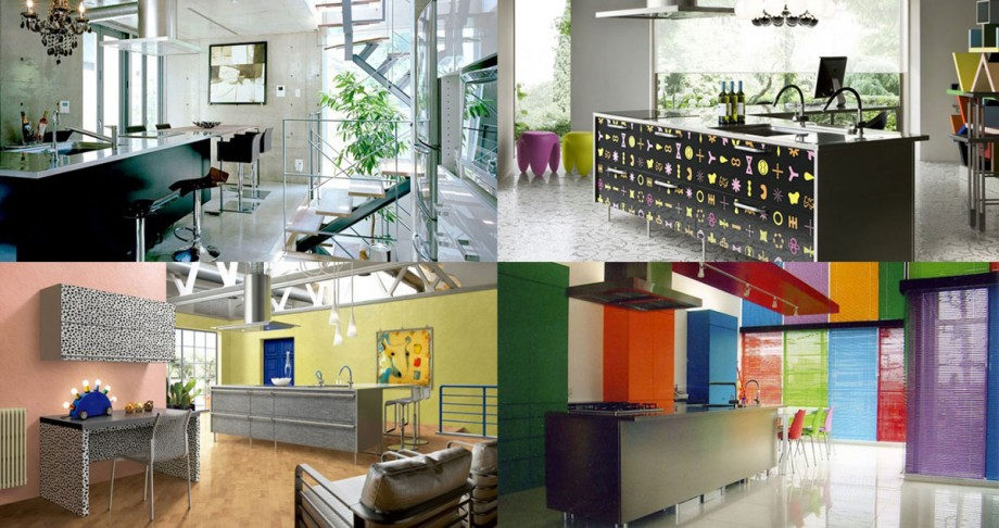 colorful kitchen decoration plan