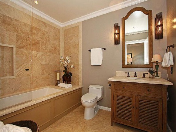 contemporary bathroom furnishing plan