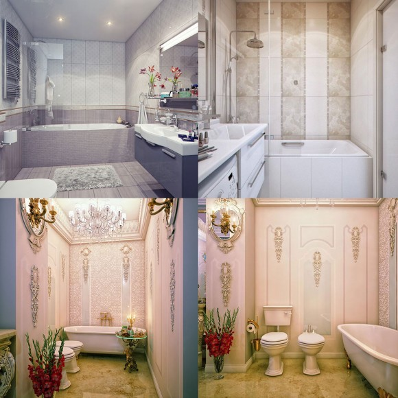 glamour bathroom interior inspiration