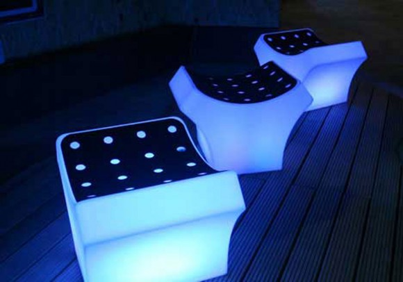 high-tech glowing chair design