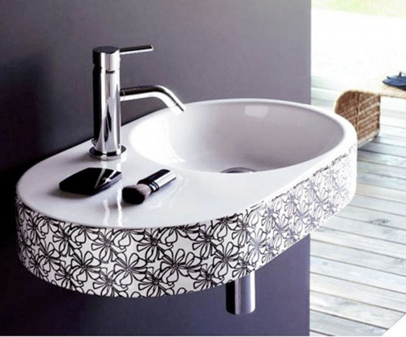 minimalist black and white basin
