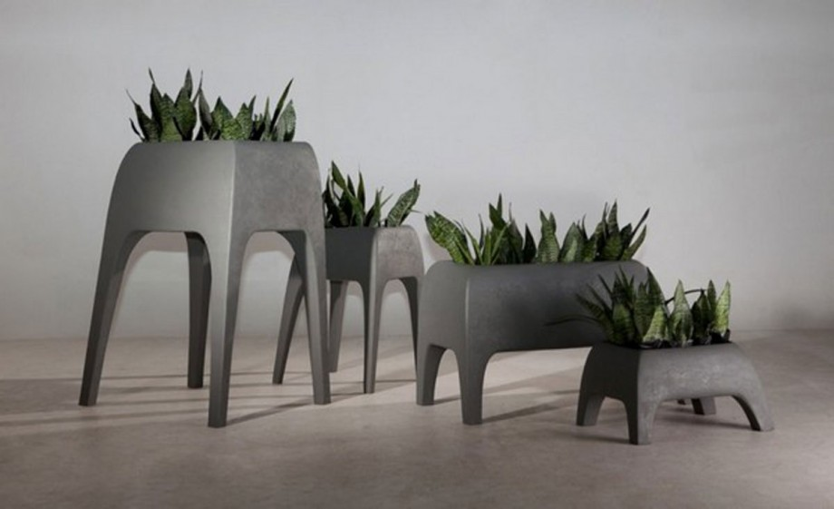 modern minimalist pot and planters