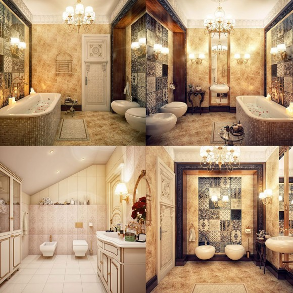 mosaic and gold combination plan