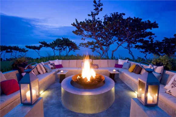 romantic outdoor patio landscape