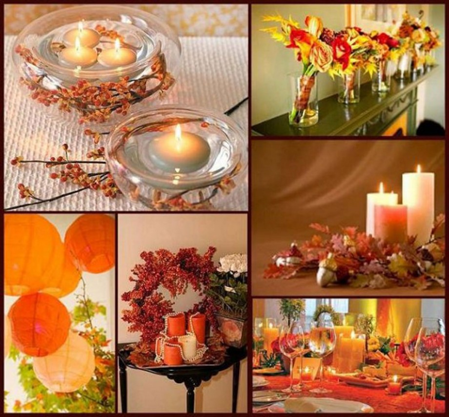 welcoming orange autumn decoration