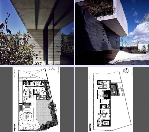 concrete house blue print
