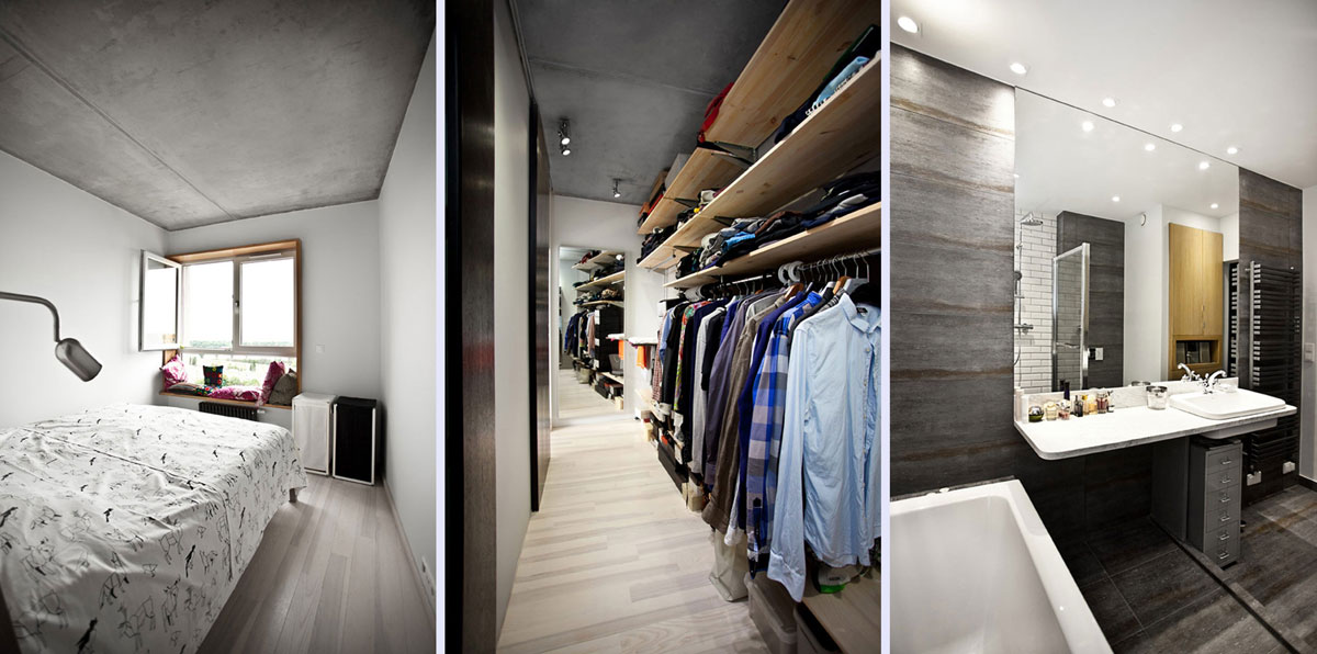 Cozy Bathroom Closet And Bedroom Interior