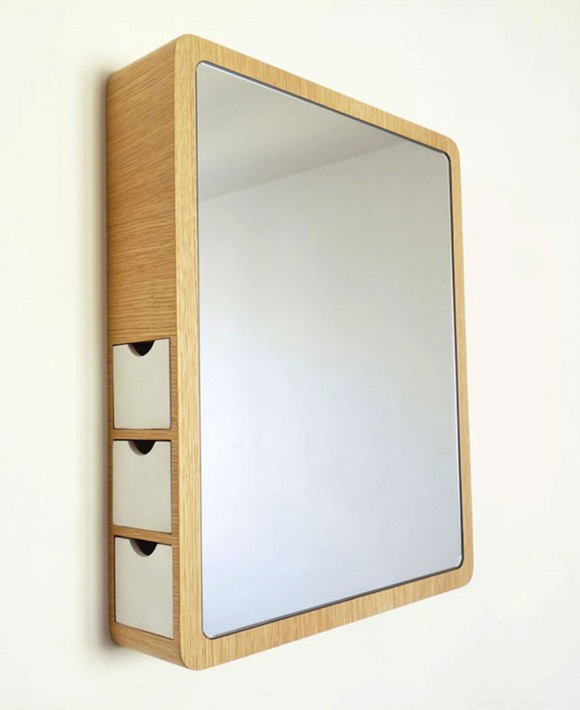 creative storage mirror combination