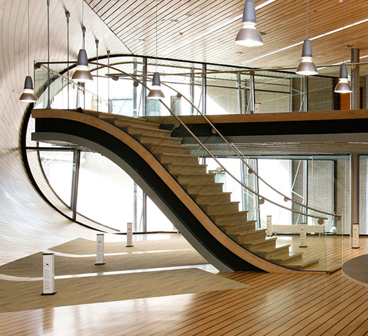 modern contemporary staircase interior design description moreover