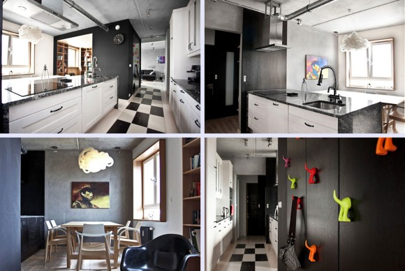 nice dark modern apartment
