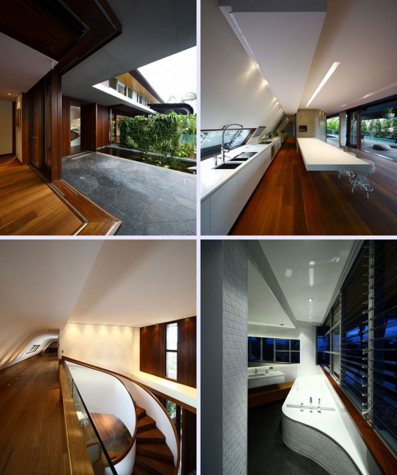 semi modern contemporary house interior