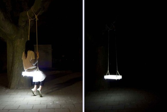 swing and lamp combination