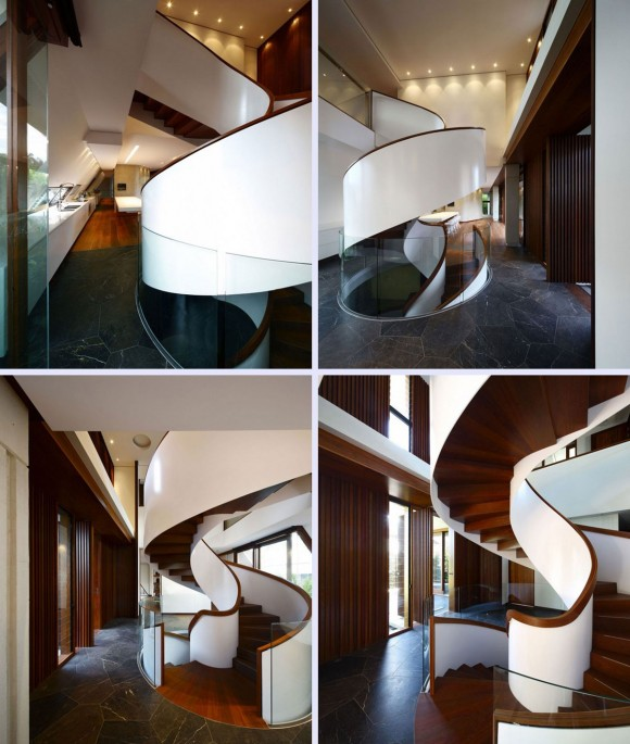 unique spiral staircase design idea