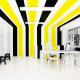 colorful office interior planner