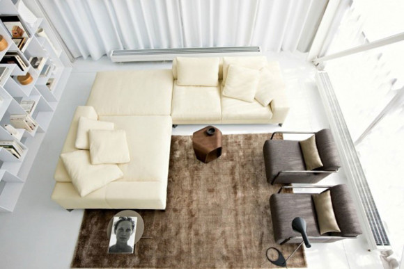 white luxury sectional sofa