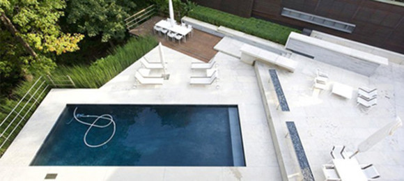 white outdoor poolside furnishing