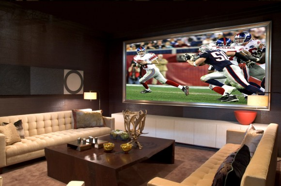 modern home theater installation