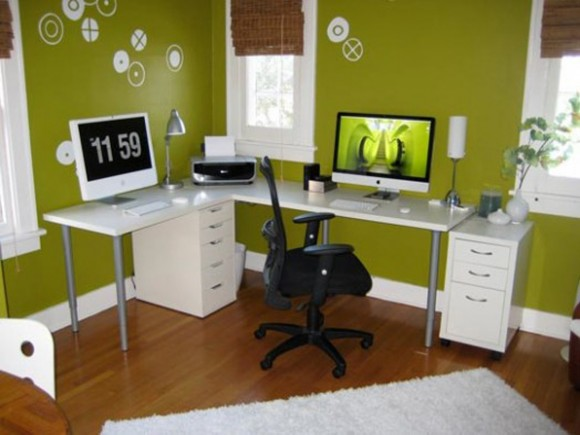 Boost Your Productivity Working from Home with Aesthetic & Functional Home Offices(13)