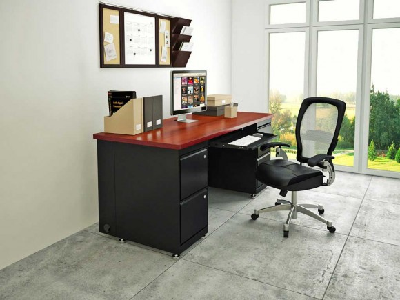 Boost Your Productivity Working from Home with Aesthetic & Functional Home Offices(17)