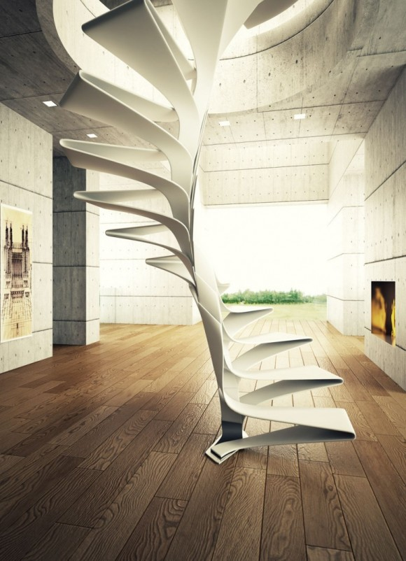 Smart Staircase Designs Create Elegant Functionality(11)