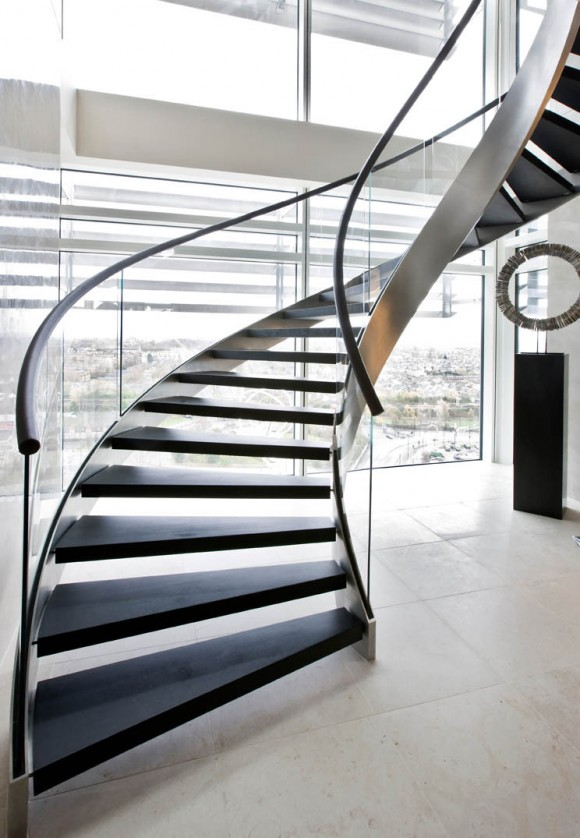 Smart Staircase Designs Create Elegant Functionality(13)