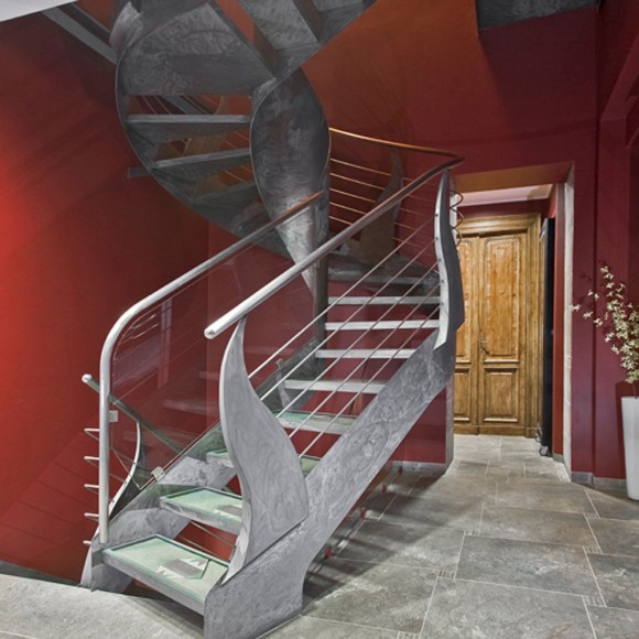 Smart Staircase Designs Create Elegant Functionality(16)