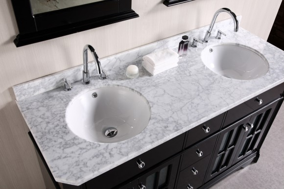 Aesthetic Granite and Marble Sink Ideas for the Home15