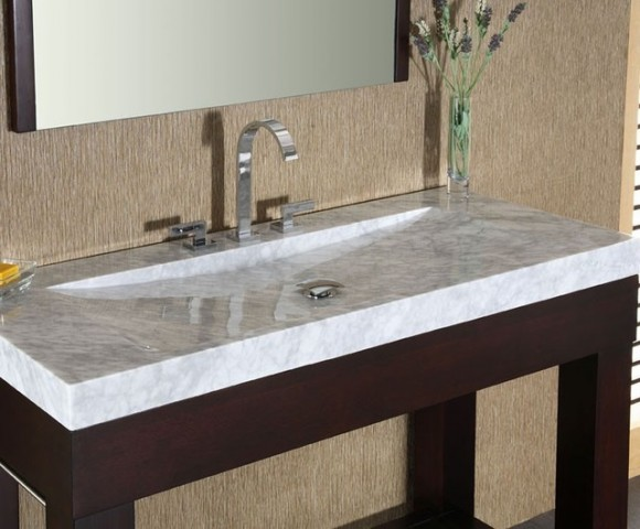 Aesthetic Granite and Marble Sink Ideas for the Home16