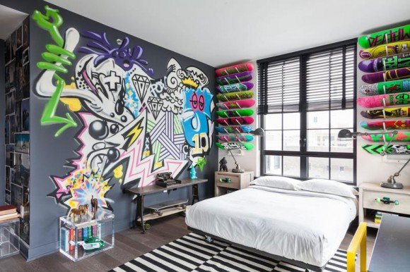 Light up Your Walls with Creative Graffiti Decor10