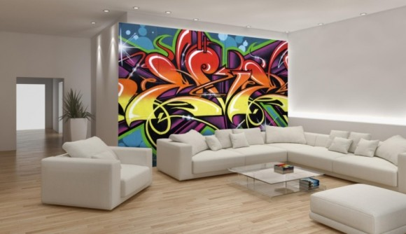 Light up Your Walls with Creative Graffiti Decor2