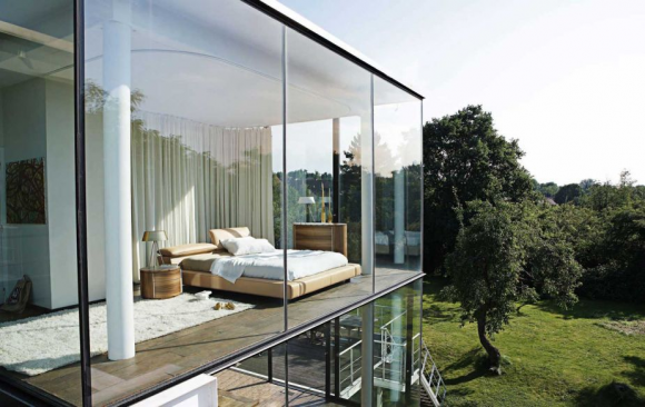 Invite the Mystical Ambience of Glass Walls in your Bedroom2