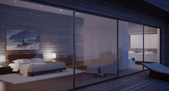 Invite the Mystical Ambience of Glass Walls in your Bedroom4