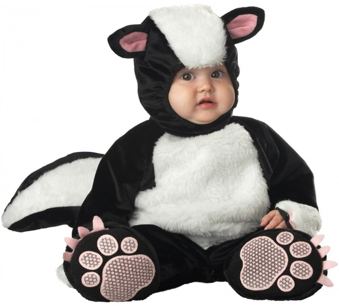 InCharacter Infant Skunk Costume