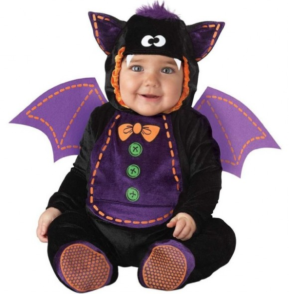 InCharacter Unisex-baby Infant Baby Bat Costume