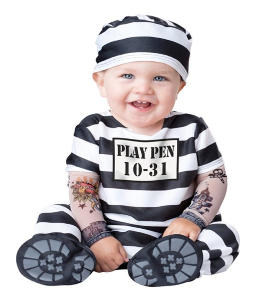 Incharacter Unisex-baby Jailbird Prisoner Halloween Costume